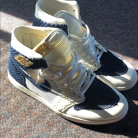 6fbe275b9c3 Jordan Shoes | Air 1 Retro Flyknit Derek Jeter | Poshmark